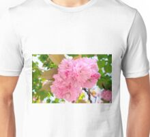 Pink Double Cherry Blossoms Unisex T-Shirt