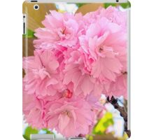 Pink Double Cherry Blossoms iPad Case/Skin