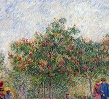 Vincent van Gogh Garden in Montmarte with Lovers Sticker