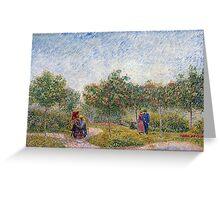 Vincent van Gogh Garden in Montmarte with Lovers Greeting Card