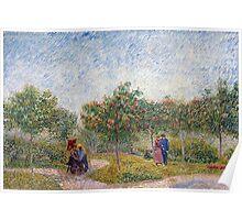 Vincent van Gogh Garden in Montmarte with Lovers Poster