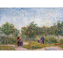 Vincent van Gogh Garden in Montmarte with Lovers Photographic Print