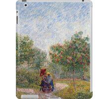Vincent van Gogh Garden in Montmarte with Lovers iPad Case/Skin