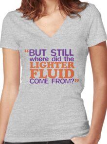 Lighter Fluid Women's Fitted V-Neck T-Shirt