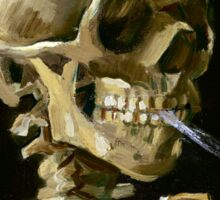 Vincent van Gogh Head of a Skeleton with a Burning Cigarette Sticker