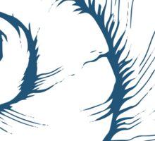 Seashell, sea shell, nature ocean aquatic underwater vector. Hand drawn marine engraving illustration on white background Sticker