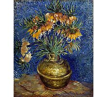 Vincent van Gogh Imperial Fritillaries in a Copper Vase Photographic Print