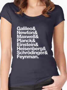 The Physicists List Women's Fitted Scoop T-Shirt