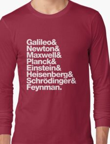 The Physicists List Long Sleeve T-Shirt