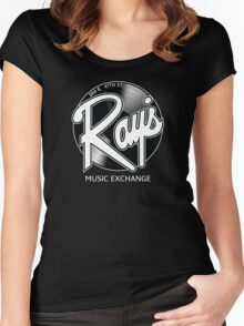 Ray's Music Exchange - Straight Exchange Logo Women's Fitted Scoop T-Shirt