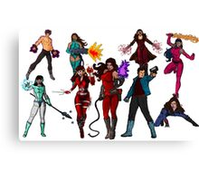 The Super Hero Grouping!  Canvas Print