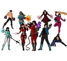 The Super Hero Grouping!  Photographic Print