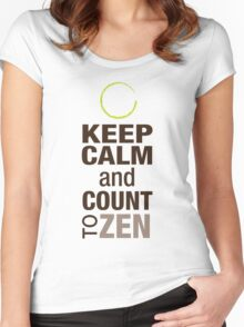 Keep Calm and Count To Zen Women's Fitted Scoop T-Shirt