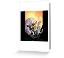 ratchet and clank feel the hit Greeting Card