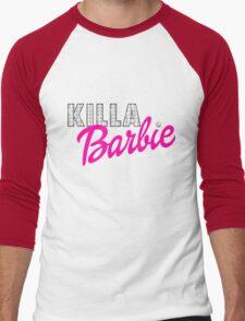 KILLA Barbie -- Playtime is Over! Men's Baseball ¾ T-Shirt