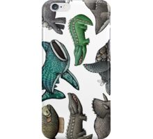 Scaly Critter Stickers iPhone Case/Skin