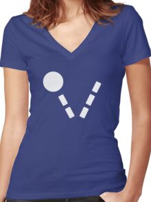 Legion of Super-Heroes; Bouncing Boy (white) Women's Fitted V-Neck T-Shirt