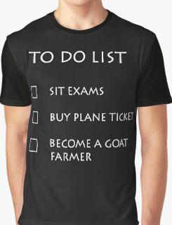 Exam To Do List Graphic T-Shirt