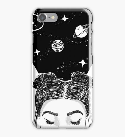 Galaxy Space Girl iPhone Case/Skin