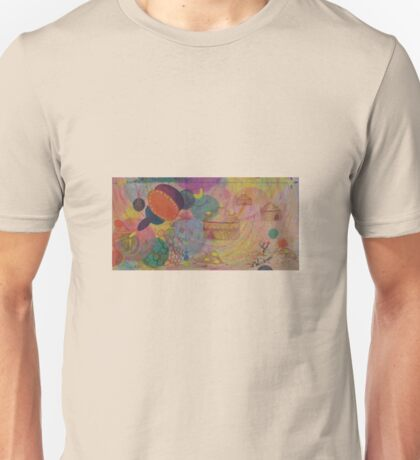 Horizons - Original Oil (half) with Organic detail. Unisex T-Shirt