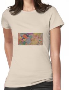 Horizons - Original Oil (half) with Organic detail. Womens Fitted T-Shirt