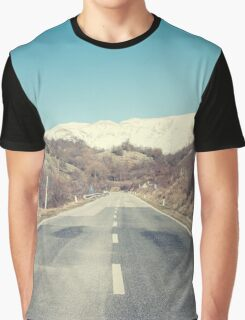 Road with mountain Graphic T-Shirt