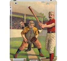 AMERICAN, BASEBALL, SPORT, POSTER, ANTIQUE, BALL, SOFTBALL, Pitch, Pitcher, Sport, Game, Bat and Ball game, on BLACK iPad Case/Skin