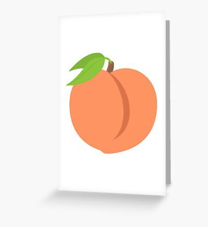 Peach Emoji Greeting Card