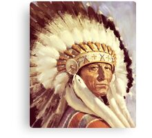 Native. American. Indian Chief, Native American tribe, Indian, Head dress Canvas Print