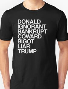 Trump List Unisex T-Shirt