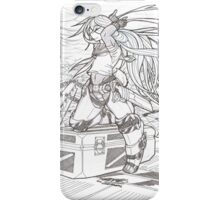 The Storm Rider [black and white] iPhone Case/Skin