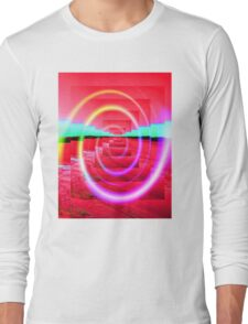 Red Abstract 2 Long Sleeve T-Shirt
