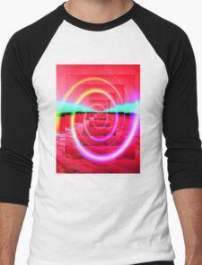 Red Abstract 2 Men's Baseball ¾ T-Shirt