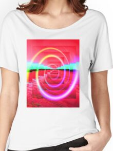 Red Abstract 2 Women's Relaxed Fit T-Shirt