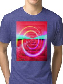 Red Abstract 2 Tri-blend T-Shirt