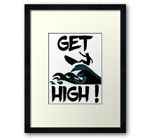 Get High! Surfer Silhouette Framed Print