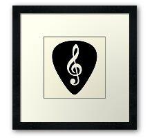 G Key Music Symbol  Framed Print