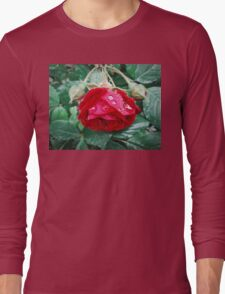 red droplet Long Sleeve T-Shirt