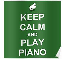 Play Piano (White) Poster
