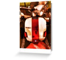 Red White and Vespa  Greeting Card