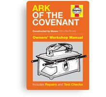 Haynes Manual - Ark of the Covenant - Poster and stickers Canvas Print