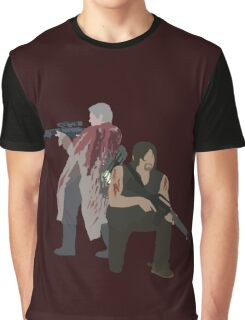 Carol Peletier and Daryl Dixon (Version 1) - The Walking Dead  Graphic T-Shirt