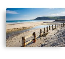 Pentewan Beach Cornwall Canvas Print