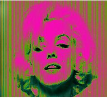 Marilyn Monroe in Pink & Green Photographic Print