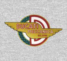 DUCATI MECCANICA VINTAGE LOGO One Piece - Long Sleeve