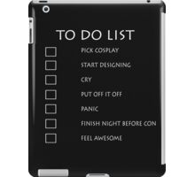 Cosplay To Do List iPad Case/Skin