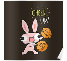 Cheer Up Cheerleading Bunny Poster