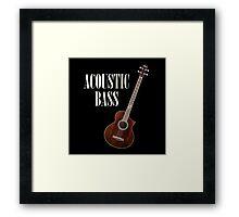 Acoustic Bass Framed Print
