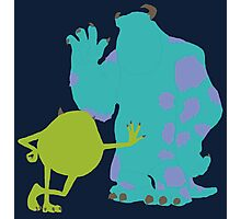 Mike Wazowski and James P. Sullivan (Mike and Sulley) - Monsters Inc Photographic Print