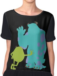 Mike Wazowski and James P. Sullivan (Mike and Sulley) - Monsters Inc Chiffon Top